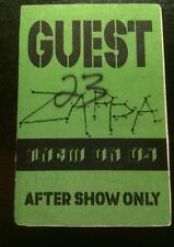 Frank Zappa BackStagePass  VERY RARE! WHILE SUPPLIES LAST!
