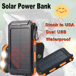2021 Super 900,000mAh USB Portable Charger Solar Power Bank For Cell Phone