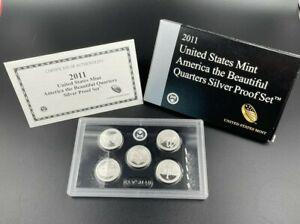 2011 S US Mint America The Beautiful Quarters Silver Proof Set