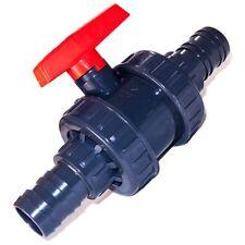 PVC-U Absperrhahn mit Kugel und 40 mm Schlauchtüllen