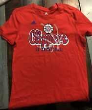 Adidas Girls Los Angeles LA Clippers Red Short Sleeve T-Shirt Large Size 14