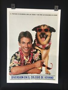 Diversion En El Colegio De Verano Vintage Mexican Lobby Card Mark Harmon  A115