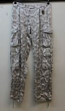 THOMAS WYLDE Ladies Grey & Off White Silk Low Rise Printed Casual Trousers XS