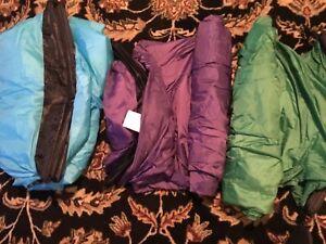 3 Knapbag Inflatable Lounger Chairs Sofa Fatboysusa Green Purple And Blue