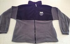 United States Olympic Team London 2012 Fleece Jacket Gray and Black Men's Large
