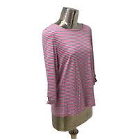 Olsen NEW Ladies/Womens Pink Striped T-Shirt Top UK Size 14 (EU 42) RRP £59