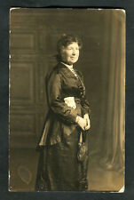 C1910 Photo Card: Lady Standing: Taken in Manchester