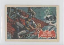 1966 A&BC Batman A Series (Red Bat Logo) #23A Battling Nature's Fury Card 0a6