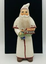 Midwest of Cannon Falls Randy Tate White Belsnickle Santa Figurine Folk Art