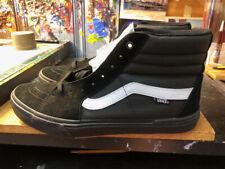 Vans Sk8-Hi Pro BMX Black White Suede Size US 9.5 Men New Extra Laces