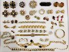 LARGE Vintage Rhinestone Repair Jewelry LOT Austria Lisner Barrera Craft Coro+