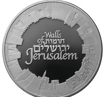 "Israel State Medal Walls of Jerusalem  Silver/999 Third in the ""Views Jerusalem"