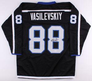 Andrei Vasilevskiy Signed Lightning Black Jersey (JSA COA) 2017 All Star Goalie