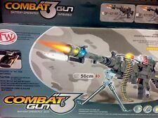 Kids Combat 3 Army Commando Machine Gun Pistol With Lights Sound Toy Gift 56cm