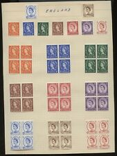No: 77487 - UK - LOT OF OLD BLOCKS OF 4 - ON A PAGE - FROM WORLD COLLECTION!