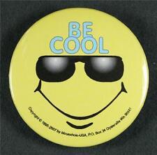 #031 Pinback Button Badge Humor Smiley Devil made me..