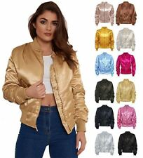 Satin Patternless Outdoor Coats & Jackets for Women