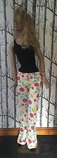 *RARE* Vtg Moschino Jeans Floral Print Flared Trousers Sz 12 90s Flower Power