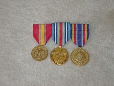 USMC Marine Medals x3 Dress Blues GWOTEM, NDSM, GWOTSM Lot