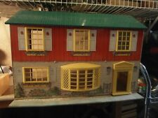 VINTAGE WOLVERINE TIN LITHO DOLLHOUSE w/ OVER 30 FURNITURE PIECES