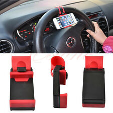 Universal Car Steering Wheel Bike Clip Mount Holder For Phone GPS Samsung Iphone