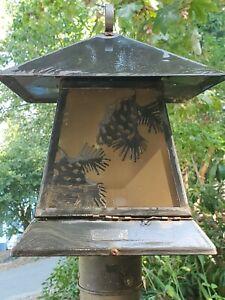 Outdoor Post Rustic Cabin/Craftsman Pine Cone Light Lamp Fixture NEW IN BOX