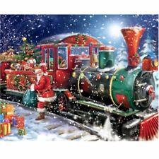 Santa Christmas Train Diamond Mosaic Painting Kit 40cm x 30cm Partial Paste