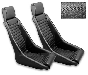 RETRO CLASSIC KPGC11 VINTAGE RACING BUCKET SEATS (Perforated / PVC) PAIR