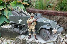 1/6 scale Custom Hasbro WWII US M3 Half Track Vehicle with Custom US Figure