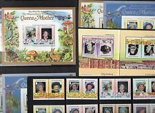 1990 Queen Mother 90th LIFE TIMES Collection 32 Stamps & 12 Mini Sheets RE:035