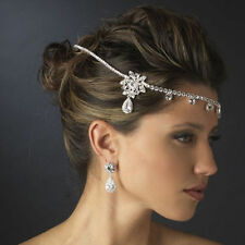 Silver Wedding Bridal Headpiece Crystal Rhinestone Hair Jewellery Accessories