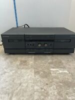 mitsubishi double tape deck m-t4200 stereo dolby b.c nr