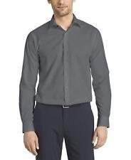 Van Heusen Men's Herringbone Regular Fit Solid Spread Collar Dress Shirt