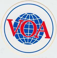 Aufkleber Sticker VoA Voice of America / rund / 80er Jahre DX