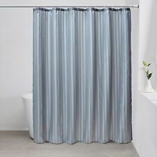 "Fabric Shower Curtain liner Mildew Resistant Microfiber Hooks Set Gray 72"" x 72"""