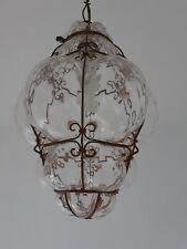 Lustre globe luminaire VENISE MURANO verre et métal