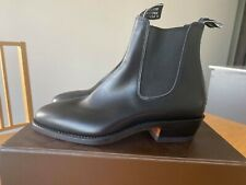 R.M.Williams Yearling Black Boots NEW Australian Made Shoes 7