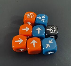Horizon Zero Dawn Board Game   Complete Set of 8 Dice   Official Game Pieces