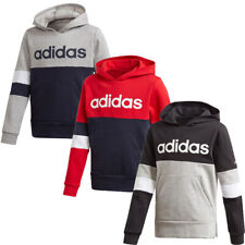 Adidas Boys Hoodies Sweatshirt Linear Hoodie Top Colorblock Shirt