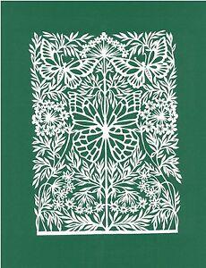 "Original Papercut ""Butterfly"" Famous Lithuanian Traditional Artist"