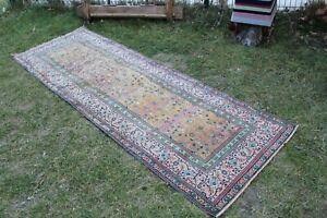 """Vintage Handmade Turkish Oushak Runner Rug 99""""x34"""""""