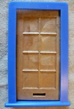 Vintage Dolls House DIY - Caroline's Home Brown Panelled Door & Blue Frame #1