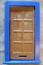 Vintage Casa De Muñecas hágalo usted mismo-Caroline 's Home marrón con Paneles De Puerta & Blue Frame #1
