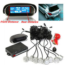 Dual-core 8 Sensors Front/Rear Double LCD Display Car Reverse Parking Radar Kit