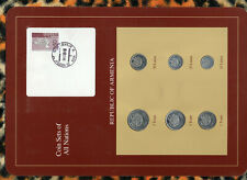 Coin Sets of All Nations Armenia UNC 5,3,1 Tram 50,20,10 Luma 1994