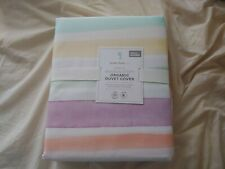 pottery barn kids Kayla Rainbow Strip queen Duvet cover original $109 new