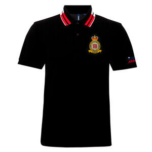 Official Red Arrows 'Eclat Crest' Black Polo Shirt 200gsm