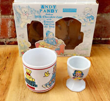 Vintage Andy Pandy Collectible Egg Cup & Mug Original Box Rare Retro Immaculate!