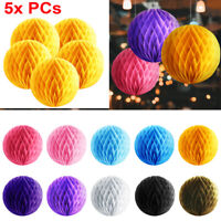 """Set of 5 Paper Honeycomb Ball Hanging Decoration Party Holiday Event Occasion 8"""""""