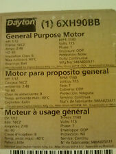Brand New Dayton General Purpose Motor 1/12 HP 6XH90BB S48AB23A11